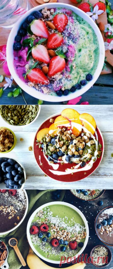 Смузи-боул — 7 рецептов смузи в тарелке — Вкусно!