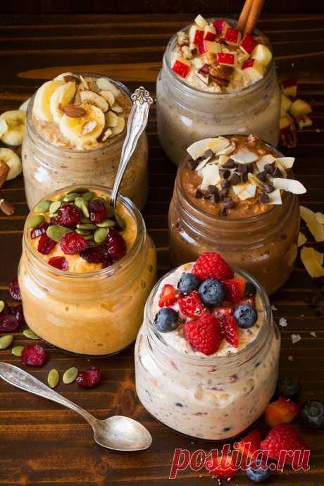 Пять ночных рецептов завтрака из овсянки – В РИТМЕ ЖИЗНИ