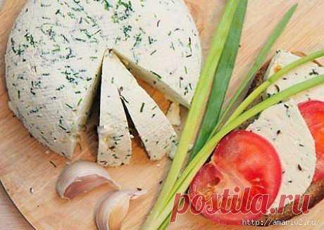 Сыр с тмином и зеленью..