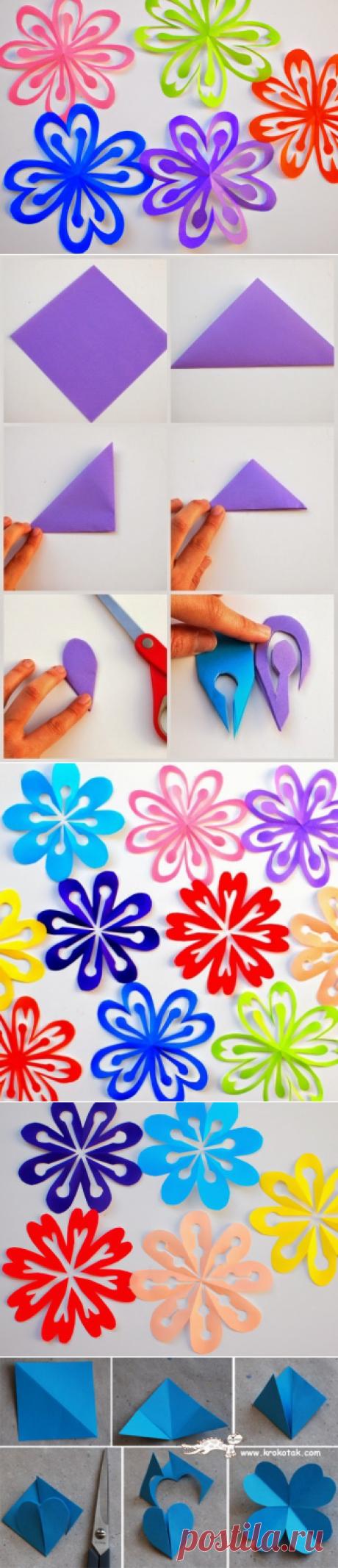 Создаем цветы ! - Поделки с детьми   Деткиподелки