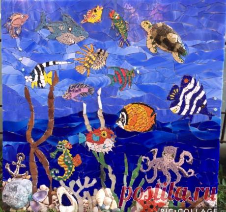 """Мозаичное панно """"Морское приключение"""""""