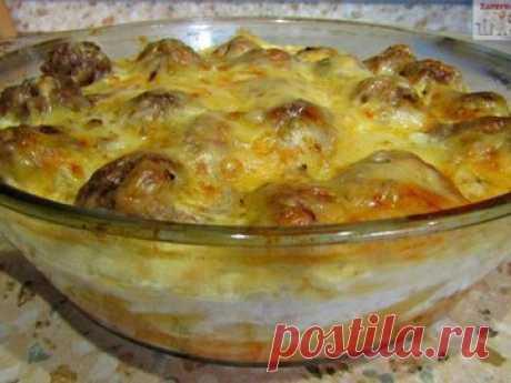 Макароны с мясными фрикадельками в духовке - простой и вкусный рецепт с пошаговыми фото