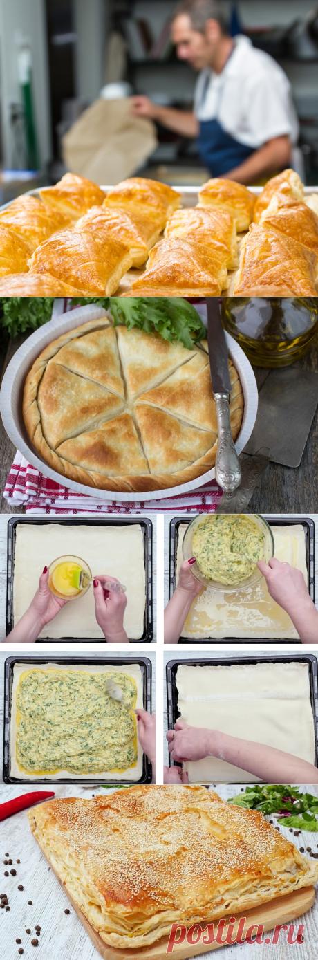 Сытный слоеный пирог с сыром в духовке — Фактор Вкуса