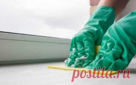 Устраняем грязь и плесень из пластикового подоконника