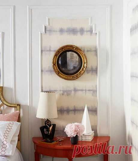 Текстильное обновление стен — Домашний уют