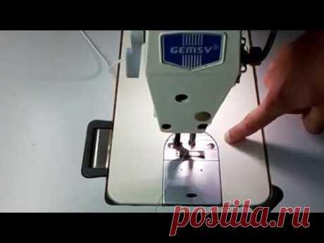 Промышленная швейная машина для начинающих 1 часть