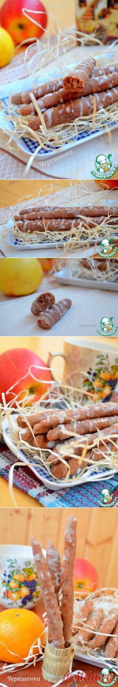 Ореховые трубочки с фасолью и мандарином - кулинарный рецепт