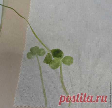 Как сделать отпечатки растений на ткани - Сам себе волшебник