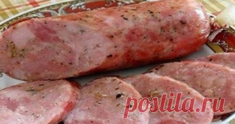 Очень вкусная и нежная рубленная колбаса в домашних условиях