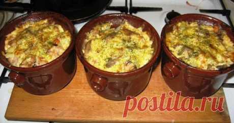 Жаренка - вкусное белорусское блюдо в горшочках