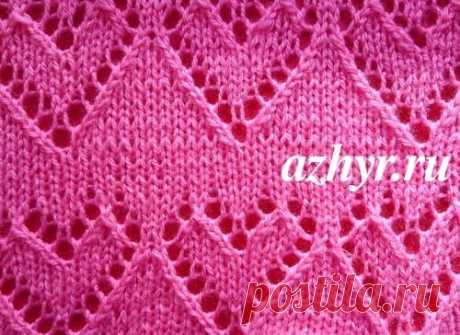 Ажурный узор сердечки Схема | АЖУР - схемы узоров