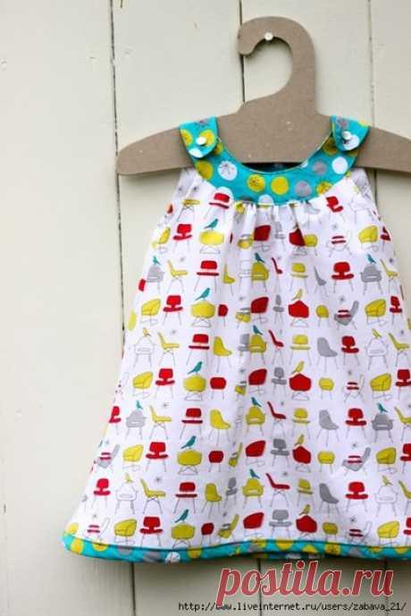 Детское платье с круглой кокеткой Как сшить детское платье с круглой кокеткой           Круглая кокетка интересный элемент одежды. На её основе можно сшить разные варианты детских нарядов , от топов до платьев. Рассмотрим пошаговый…
