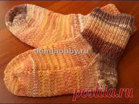 (4) вязание носков с укрепленной пяткой и подошвой - YouTube