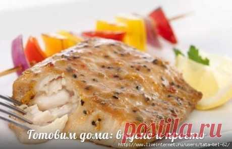 Вкусная и полезная рыбка - Минтай в соусе!