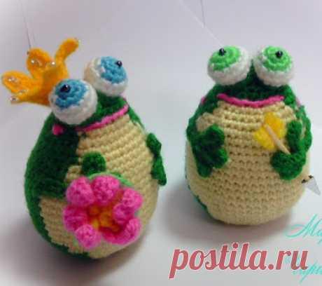 1000 схем амигуруми на русском: Вязаные лягушки крючком