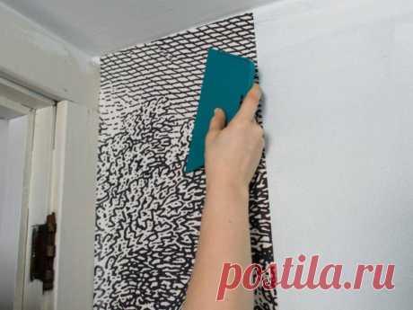 Как использовать самоклеющуюся пленку в качестве обоев для отделки стены