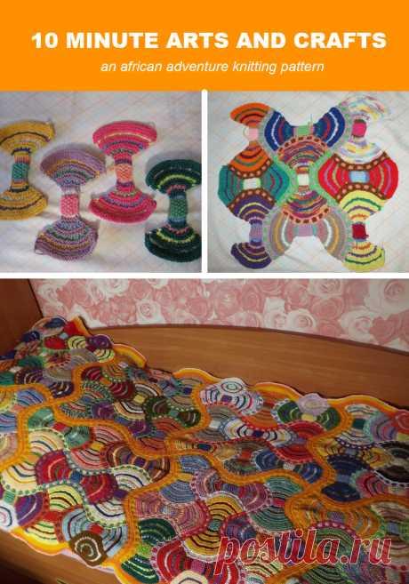 """How to knit """"Африканские Приключения&quot plaid;"""