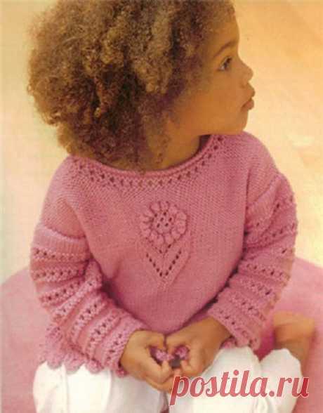 Вязание спицами для детей до 3-х (трех) лет с описанием и схемами