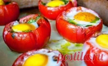 Как приготовить помидоры с глазуньей - рецепт, ингредиенты и фотографии