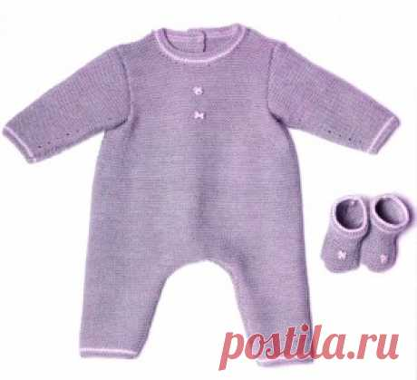 Knitted overalls and socks for the newborn   Knitting by spokes and a hook – Alphabet of knitting