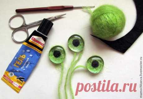 Делаем глазки для вязаных и текстильных игрушек — простые и почти универсальные. Обсуждение на LiveInternet