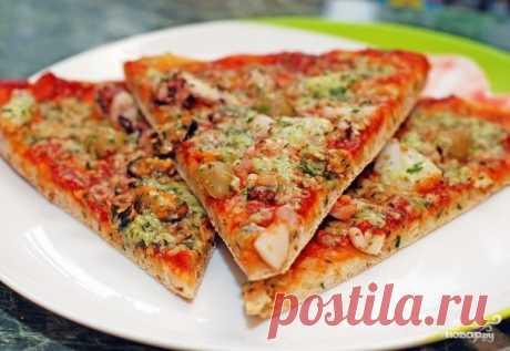Пицца из морского коктейля - пошаговый рецепт с фото на Повар.ру