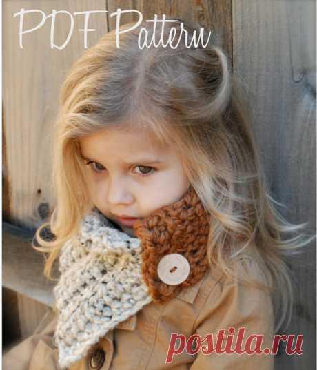 Crochet PATTERN-The Aspen Cowl Toddler Child and от Thevelvetacorn