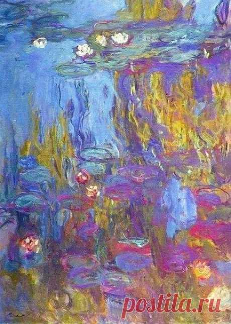 """""""Цвет - это моя однодневная одержимость, радость и страдания."""" Клод Моне Сlaude Monet """"Water lilies"""""""
