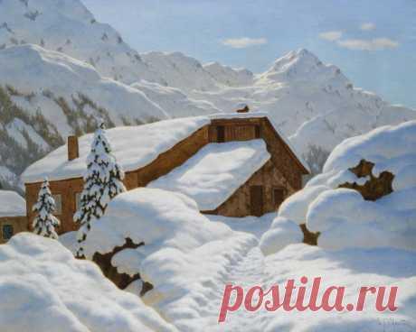 Забытый художник Иван Шультце и самый пушистый снег в живописи | Кино и картины | Яндекс Дзен