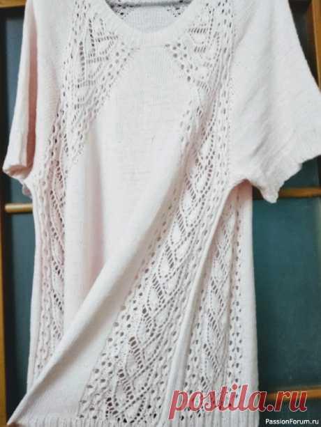 Летняя кофточка . | Вязание для женщин спицами. Схемы вязания спицами