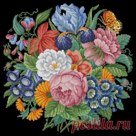Vintage Embroidery NeedleWork berlin woolwork от MagicOfNeedle