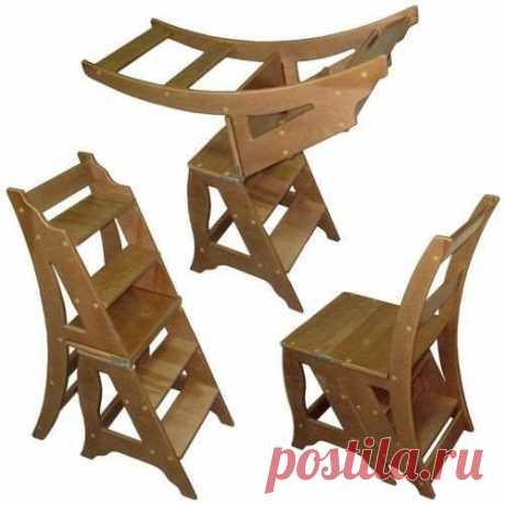 Раскладной стул-трансформер из фанеры своими руками | Краше Всех