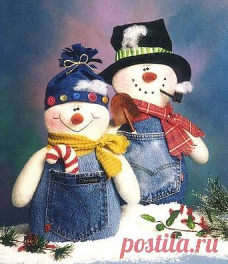 Снеговики в джинсах. Выкройка