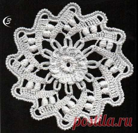 Элементы ирландского кружева - коловороты, плоские спиральные цветы или розетки. Так по-разному их называют. Разработки Натальи Сауткиной #crochet #крючком #ирландское_кружево #фриформ
