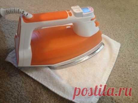 Как отчистить пятно на ковре.