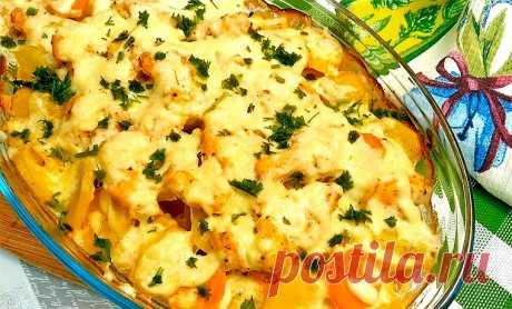 Куриное филе с картофелем в духовке   Рецепты на SuperKuhen.ru