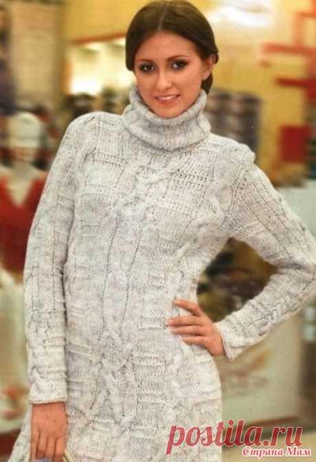 Теплое платье спицами - Вязание - Страна Мам