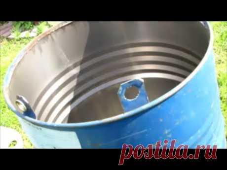 Как вскрыть 200-литровую железную бочку для воды.Два способа открыть железную бочку под воду.
