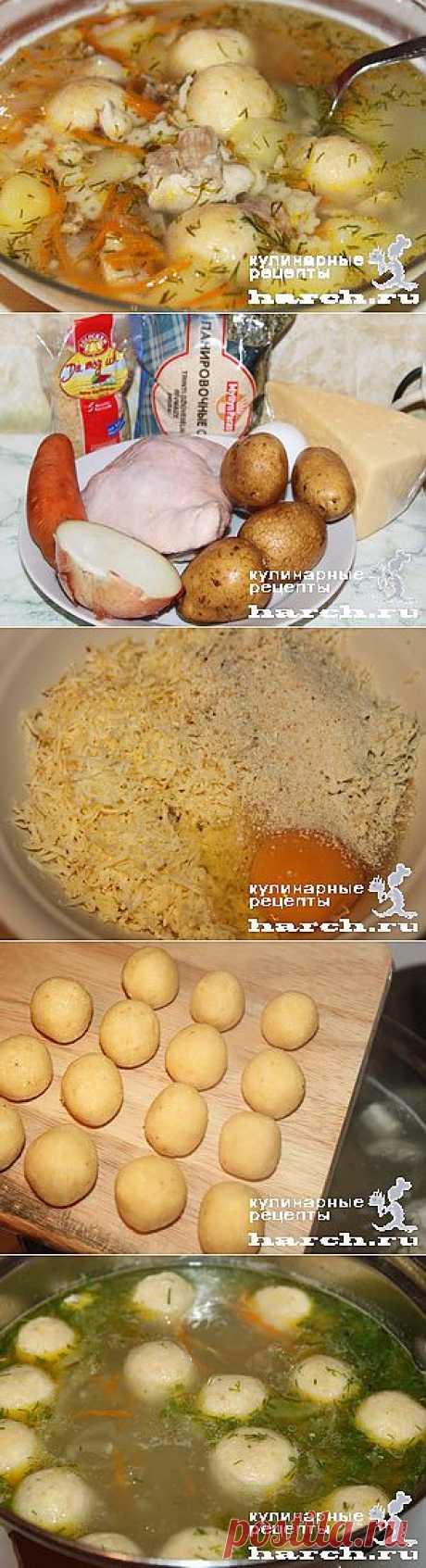 Куриный супчик с сырными колобками | Харч.ру - рецепты для любителей вкусно поесть