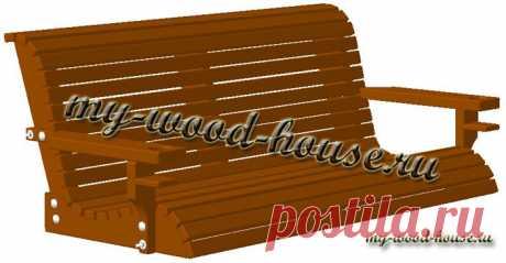 Садовые качели для дачи своими руками | Деревянные дома
