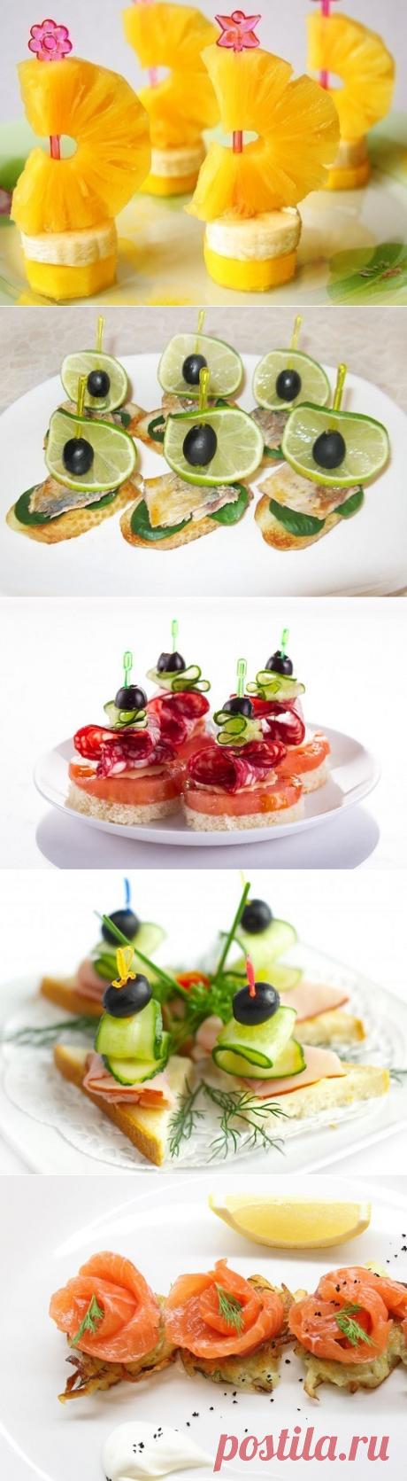 Закуска для любого стола! 9 рецептов канапе — Вкусные рецепты