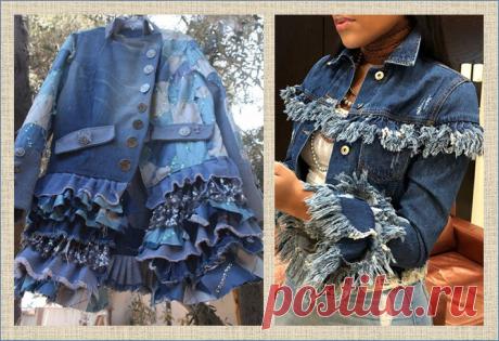 Новая жизнь старых джинсов - осенние плащи и утепленные курточки - 35 моделей   МНЕ ИНТЕРЕСНО   Яндекс Дзен