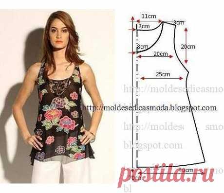 Шьём блузку.Размер 38-40(евро) расход ткани при шир.1,5 м-80 см