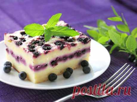 Творожный пирог с черной смородиной - Рецепты - Выпечка - Smak.ua