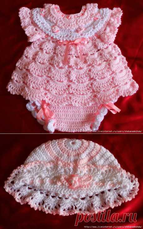 Розовый Наряд для малышки..