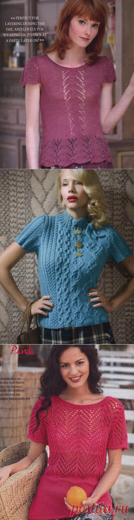 Подборка джемперов с коротким рукавом. | Asha. Вязание и дизайн.🌶 | Яндекс Дзен