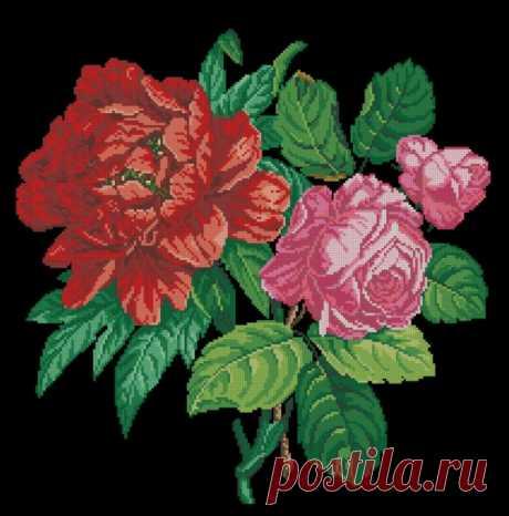 (6) Gallery.ru / Фото #2 - Роза и красный пион. Завершён - Mariaya