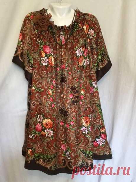 Павлопосадские платки в современном гардеробе » Женский Мир