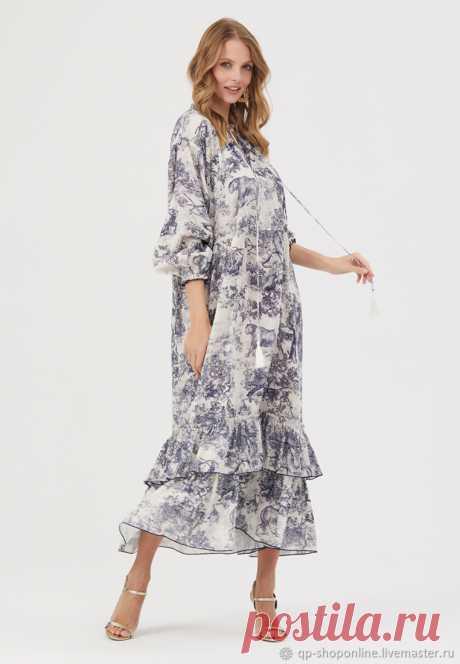 Платье из хлопкового муслина Dior – купить на Ярмарке Мастеров – LONQURU | Платья, Москва