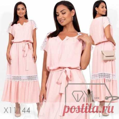 Красивое платье большой размер : новинки льняных платьев 48+. Скидка всем. Доставка.